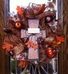 How to Make Mesh Deco Wreath