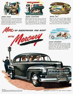 1946 Mercury Print Ad