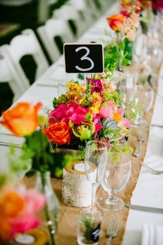 Our chalkboard stakes make Rustic Wedding Table Numbers. Get them here: http://www.lightsforalloccasions.com/p-3559-chalkboard-stakes-for-guest-table-numbers-small-rectangle-6-pack.aspx