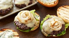 Check out this delicious recipe for Fontina Cheeseburgers with Lemon-Herb Mayonnaise from Weber—the world's number one authority in grilling.