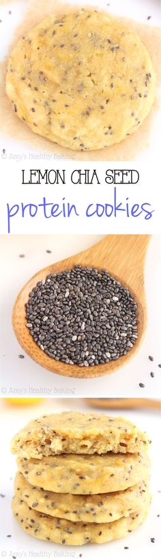 Lemon Chia Seed Protein Cookies // skinny, protein-packed, low carb