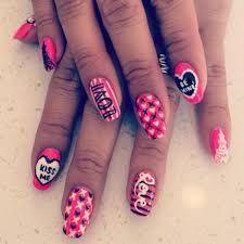 Výsledek obrázku pro valentines nail designs