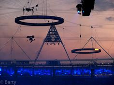Olympic Rings Floating Over the Stadium