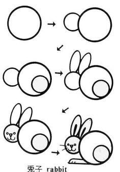 Kids stick figures, kids stick figures, white rabbit painting - Cartoon Videos Kids For 2019 Drawing Lessons For Kids, Easy Drawings For Kids, Art Lessons, Art For Kids, Doodle Drawings, Animal Drawings, Doodle Art, Basic Drawing, Step By Step Drawing