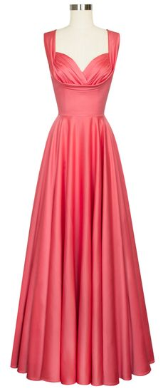 Enhance your curves with the Trashy Diva Honey Long Dress in Coral Satin!