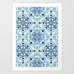 Navy Blue, Green & Cream Detailed Lace Doodle Pattern Art Print by micklyn Doodle Patterns, Print Patterns, Green Cream, Blue Green, Damask Bedroom, Nursery Themes, Pattern Art, Baby Blue, Doodles
