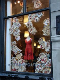 """Anthropologie """"Flowering Old Books"""" Window Displays"""