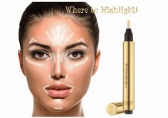 Where to apply highlighter : A Model's Secrets I Makeup Tricks for an Instant Facelift in Photos - Without Surgery