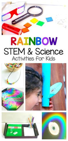 Rainbow Science Activities for Kids: Explore light and rainbows with these STEM and STEAM activities for children. Perfect for spring, St. Patrick's Day, and any unit on weather! ~ BuggyandBuddy.com