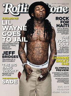 Lil Wayne Rolling Stone cover.