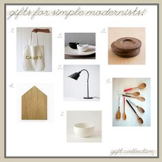 Modern Gift Ideas: For the Simple Modernist!