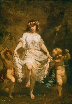 Nymph and Cupids  Thomas Couture, 1860  Oil on canvas