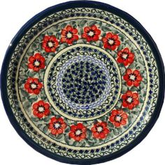 """Polish Pottery Dinner Plate 11"""" by Zaklady Ceramiczne """"Boleslawiec"""". $44.00. Dimensions: Diameter: 10.70"""". Use: Polish Pottery is oven- dishwasher- stove- and microwave oven safe, lead and cadmium free, resistant to chip.. Each piece of Polish Stoneware is handmade and hand-painted.. Origin: Boleslawiec, Poland. The beautiful Polish Pottery Dinner Plate, in the Unikat Signature Patterns, will be an excellent addition to your dinner table. It will also look beautiful hung on..."""