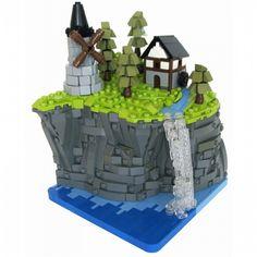 Lego Mocs Micro ~ LOM Rank Challenge: Cliffside Village: A LEGO® creation by Halhi 141