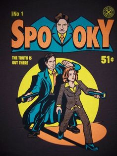 X Files Fox Mulder Dana Scully Spooky Comic Limited Edition Womens T Shirt s XL | eBay