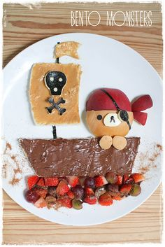 Bento Monsters Rilakkuma pirate lunch