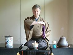 Japanese Tea Ceremony [ a drop of water would flow down his arm ]