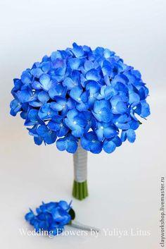 Букет невесты из полимерной глины с гортензией. Цветы из полимерной глины. Букет невесты, свадебные цветы, цветы из полимерной глины, wedding flowers, Bridal bouquet, wedding bouquet, deco clay