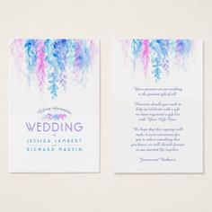 Wedding blue flower cascade gift registry cards Custom Legal Branding Office Products and Gifts #legal #lawyer #solicitor #law