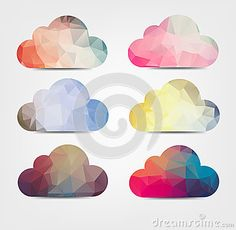 Abstarct background with cloud icons by Zlomari, via Dreamstime http://www.dreamstime.com/stock-images-abstarct-background-cloud-icons-colorful-geometrical-clouds-light-image35331934