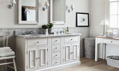 Bathroom furniture in solid wood and marble | Neptune