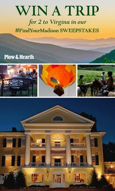 WIN a trip for 2 to Virginia valued at $5,000!