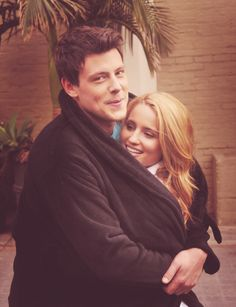 cory monteith and dianna agron.