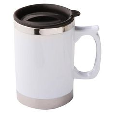Personalised Bianco Mugs, a printed thermal mug with a secure lid with twist action and a large print area. From £3.92.