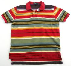 Polo by Ralph Lauren Shirt Mens Size Small Short Sleeve South West Striped Rare #PoloRalphLauren #PoloRugby