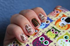 Trendy owl nail design :: one1lady.com :: #nail #nails #nailart #manicure