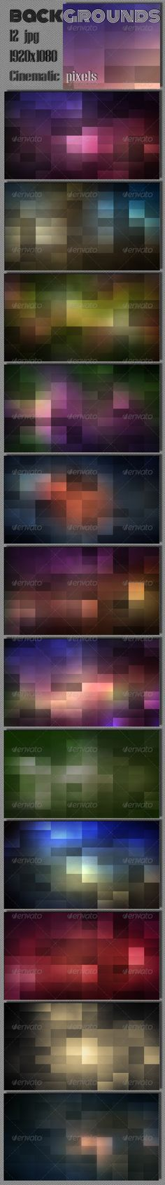 Pixel Cinematic Wallpaper — Photoshop PSD #polygonal #surface • Available here → https://graphicriver.net/item/pixel-cinematic-wallpaper/7901621?ref=pxcr