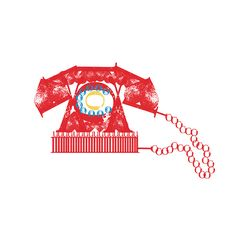 red telephone by d e b b i e, via Flickr