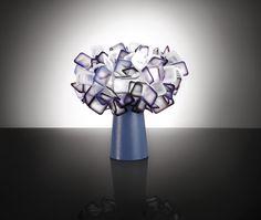 Clizia table purple, design by Adriano Rachele. www.slamp.com