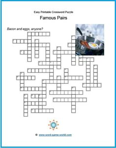 easy printable crossword puzzles for all ages