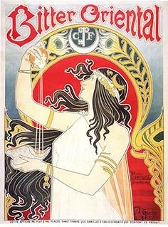 Art Nouveau posters that have graced the walls of female college students the world over