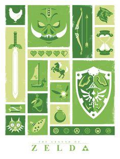 Jeff Langevin Object Posters Zelda