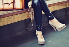 leather tights <3