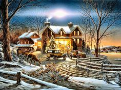 terry redlin | And Crown Thy Good with Brotherhood by Terry Redlin | Terry Redlin, love this, have in my home!