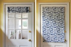 Front Door Curtain & Entry Door Window Treatments | Window Treatments | Pinterest | Door ...