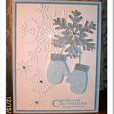 what a pretty card, wish it would snow here in lower Alabama, cause I would whip these up and mail out!