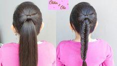 Cola o Trenza de Pescado/Espiga con Lazo de Cabello - Hair Bow into a fi...