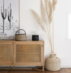 Home Remodel Living Room Love this hallway with its desert boho vibes - all you need is pampas grass and a rattan cupboard.Home Remodel Living Room Love this hallway with its desert boho vibes - all you need is pampas grass and a rattan cupboard
