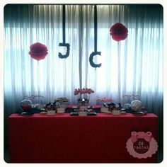 Cupcakes, Desserts, Wedding, Bar, Ideas, Candy Stations, Candy Buffet, Tarts, Red