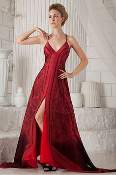 Plus Size Prom Dresses, Cheap Prom Dresses, Wedding Dresses, Prom Gowns, Red Formal Gown, Chiffon, Tea Length Wedding Dress, Silhouette, Elegant