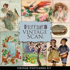 Nuevos Freebies vintage Postales