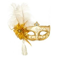 Antoinette White and Gold Masquerade Mask ($16) ❤ liked on Polyvore featuring costumes, sexy costumes, ladies halloween costumes, adult women costumes, party costumes and sexy womens halloween costumes