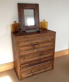 Qube Chests of Drawers - 3ft wide 5 Drawers #eatsleeplive #reclaimedwood #bedroom