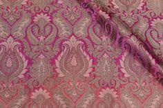 Pink peach brocade #brocade #fabrics #india #textile #prints #patterns #blouse #saree