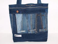 "Jeanstasche ""Dark Blue"" Upcycling Shopper"