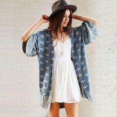 Bohemian Floral Kimono Cardigan - Boho Chic Cardigan - Hippie Style Kimono - Hippie BLiss